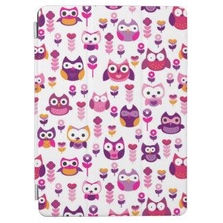 retro colourful owl bird pattern iPad air cover