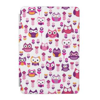 retro colourful owl bird pattern iPad mini cover