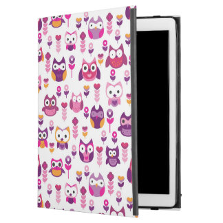 "retro colourful owl bird pattern iPad pro 12.9"" case"