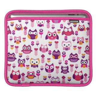 retro colourful owl bird pattern iPad sleeve