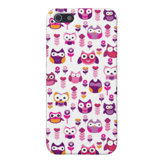 retro colourful owl bird pattern iPhone 5 covers