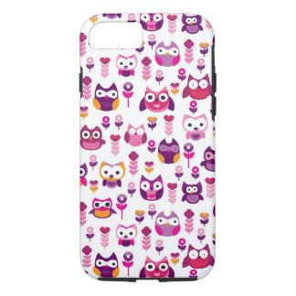 retro colourful owl bird pattern iPhone 7 case