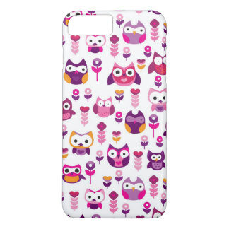retro colourful owl bird pattern iPhone 7 plus case