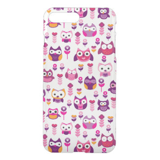 retro colourful owl bird pattern iPhone 8 plus/7 plus case