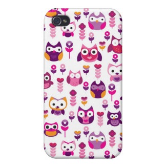 retro colourful owl bird pattern cases for iPhone 4