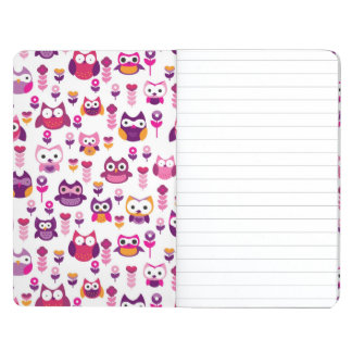 retro colourful owl bird pattern journal
