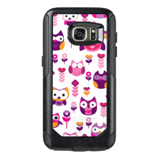 retro colourful owl bird pattern OtterBox samsung galaxy s7 case