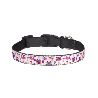 retro colourful owl bird pattern pet collar
