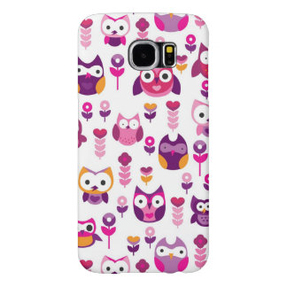 retro colourful owl bird pattern samsung galaxy s6 cases