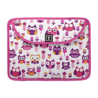 retro colourful owl bird pattern sleeves for MacBooks