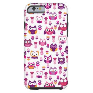 retro colourful owl bird pattern tough iPhone 6 case