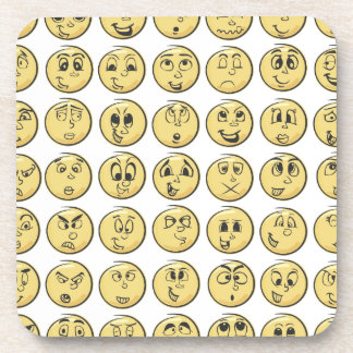 Retro Comic Book Emoji Coasters