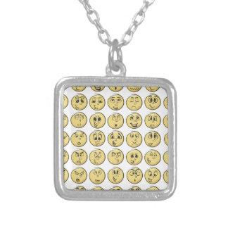 Retro Comic Book Emoji Pattern Custom Necklace
