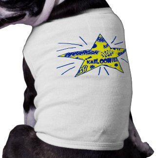 Retro Comic Call-Outs Star Sleeveless Dog Shirt