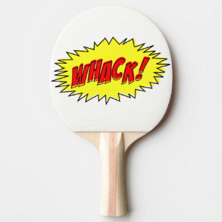 Retro Comic Whack Whack! Ping Pong Paddle