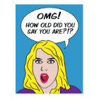 RETRO COMICS birthday postcard