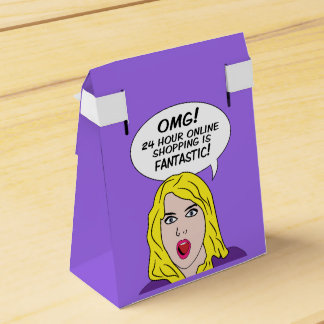 RETRO COMICS custom favor boxes