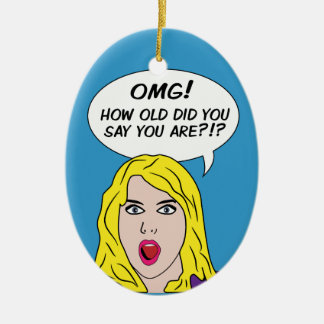 RETRO COMICS custom ornament