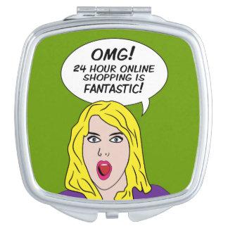 RETRO COMICS custom pocket mirror Makeup Mirrors