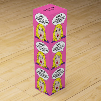 RETRO COMICS custom wine gift box