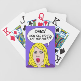 RETRO COMICS playing cards