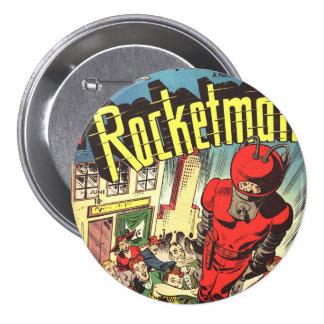 Retro comics - Rocketman 7.5 Cm Round Badge