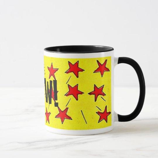 "Retro Comix Stars ""WOW!"" Mug"