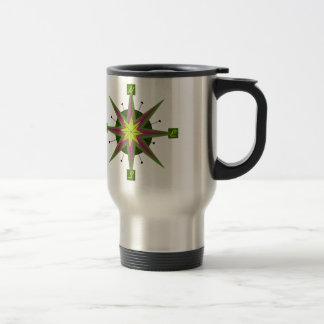 Retro Compass Design Stainless Steel Travel Mug