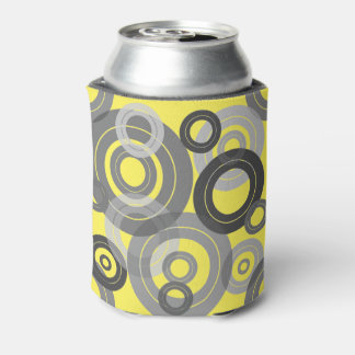 Retro concentric rings / vinyl records can cooler