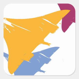Retro Concorde Jet Airplane Aviation Flight Design Square Sticker