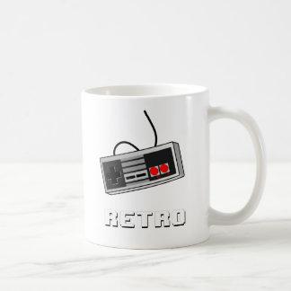 Retro Controller 8-bit Basic White Mug