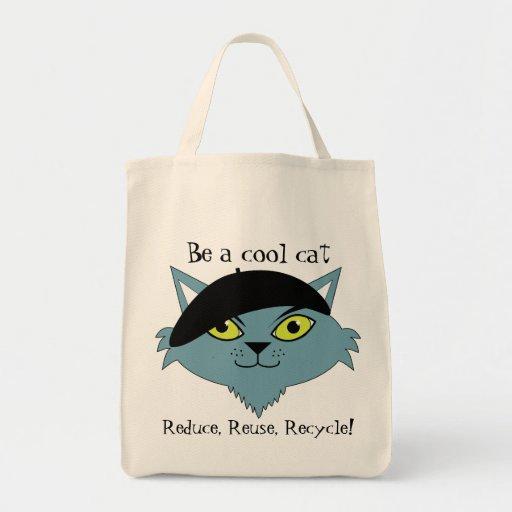 Retro Cool Cat Tote Bag