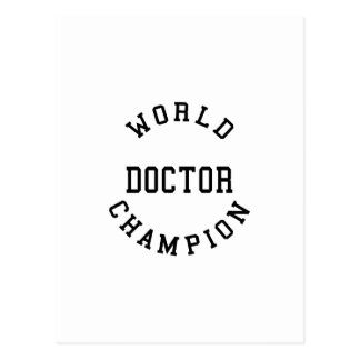 Retro Cool Doctors Gifts : World Champion Doctor Post Card