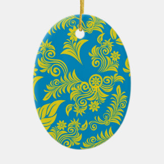 Retro cool floral pattern! christmas ornament