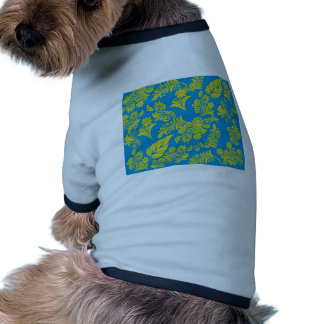 Retro cool floral pattern! dog t shirt