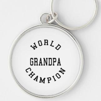 Retro Cool Grandpas Gifts World Champion Grandpa Key Chains