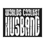 Retro Cool Husbands : Worlds Coolest Husband Stretched Canvas Print