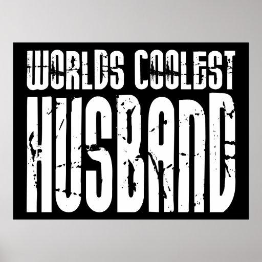 Retro Cool Husbands : Worlds Coolest Husband Poster