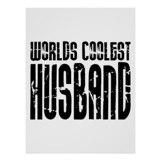 Retro Cool Husbands Worlds Coolest Husband Print