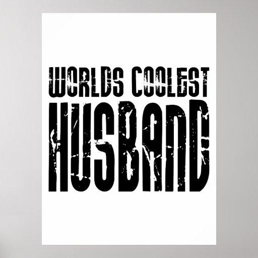 Retro Cool Husbands : Worlds Coolest Husband Print