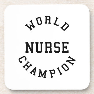 Retro Cool Nurses Gifts World Champion Nurse Drink Coasters