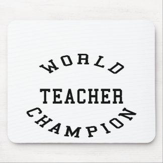 Retro Cool Teachers Gifts : World Champion Teacher Mousepads
