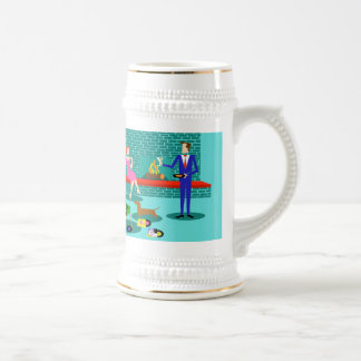 Retro Coupe with Dog Stein Beer Steins