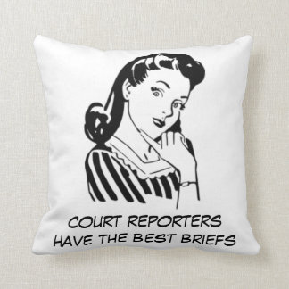 Retro Court Reporters have the Best Briefs Quote Throw Cushion