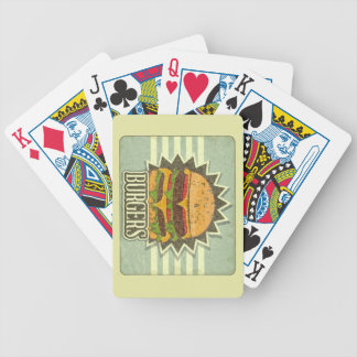 Retro Cover For Fast Food Menu Bicycle Playing Cards