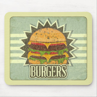 Retro Cover For Fast Food Menu Mouse Mat