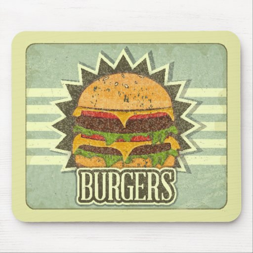 Retro Cover For Fast Food Menu Mousepads