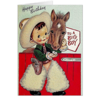 Retro Cowboy Birthday Card For A Big Boy