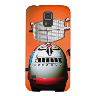 Retro Cropped Toy Robot 03 Cases For Galaxy S5