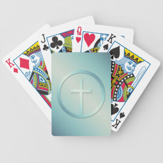 Retro Cross Emblem Graphic Bicycle Playing Cards
